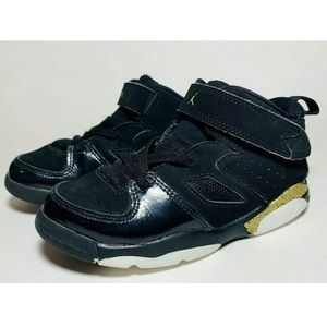 NIKE AIR JORDAN Flight Club 91 Black Gold Sneakers